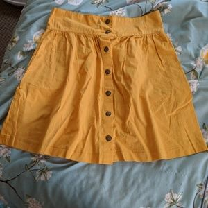 [Modcloth] Craving Curry Skirt, Red and Yellow
